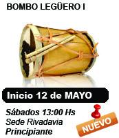 Clases de Bombo Legüero. Días Sábados 13 Hs. Nivel Intermedio-Avanzado. Rivadavia 1180. Microcentro