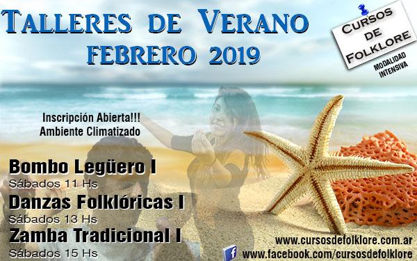 Clases de Folklore en VERANO 2019 en Capital Federal.  www.cursosdefolklore.com.ar