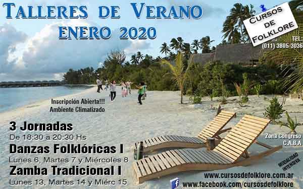 Clases de Folklore en Verano 2020